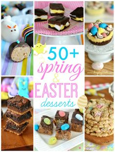 Looking for a Spring brunch dessert? Here are 50+ Easter treat ideas!