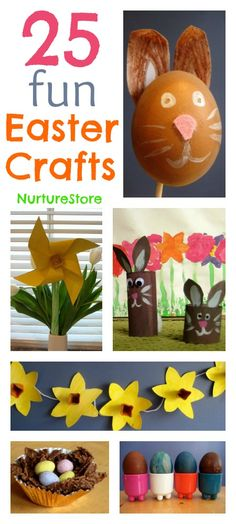 fun easter, educational crafts, 25 easter, easter crafts for kids, bunny crafts