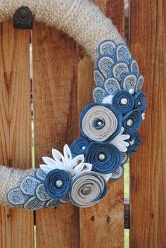 Denim & Diamonds wreath