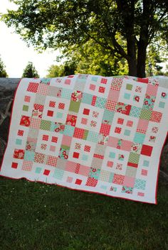 PDF Quilt Pattern.....Layer Cake and Fat Quarter friendly, ..Baby and Large Lap or Coverlet size, City Blocks. $9.00, via Etsy.