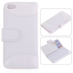 Leather/ Plastic Wallet Case with Card Slots for iPhone 5