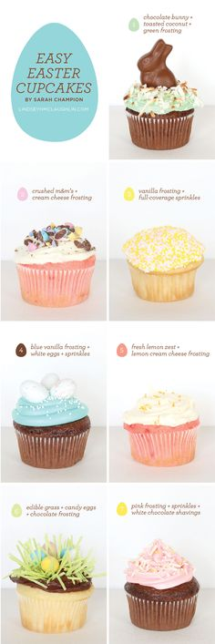 How to make easy easter cupcakes