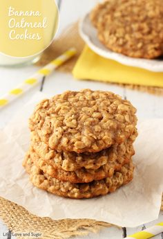 banana cookie oatmeal, food, bananas, banana oatmeal cookies, dillon dillon, lindsay dillon, chewi banana, oatmeal banana cookies, dessert