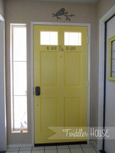 Paint the inside of your front door!