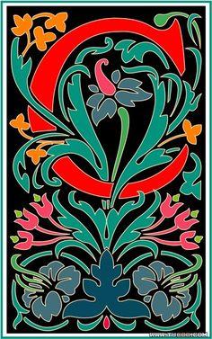 国外古典花纹系列:花式英文大写字母设计VII(2套) - 文森特风格字母向量图58