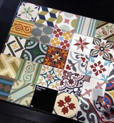 Patterned tile mix - WorkHouse Collection at London Design Festival