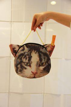 Buy One get BOTH~!! Cat Face Tote Bag Shopper from Naputa's Secret Garden on Storenvy