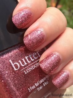 Butter London Rosie Lee _ PERFECT NATURAL NAIL SHAPE!  LOVE!