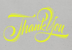 Thank You by Martina Flor, via Behance