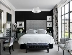 black and white bedroom set.  I want to move this into my room now