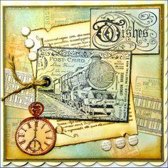 Card made by Daniele using CI-404 and CI-408