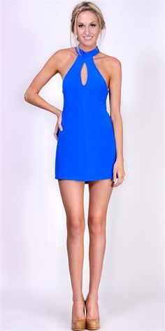 Naven - Keyhole Dress - Vegas Blue