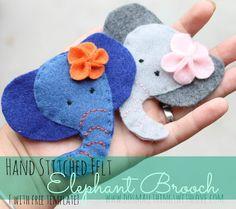 Felt Elephant Brooch - Do Small Things with Love