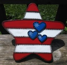 4th of July Star Cookie Jar Lid