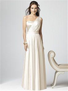 One shoulder Ivory #Wedding Dress :: look like a #Greek #goddess
