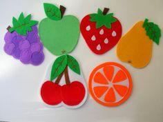 Felt handmade cute delicious fruity coasters por Lilamina en Etsy