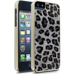 Cellairis Leopard Glitz Case for Apple iPhone 5 - Gold
