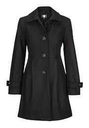 Button-up coat with