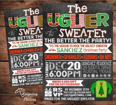 Ugly Sweater Christmas Holiday Party Invitation by ReigningParties, $20.00