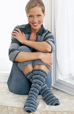 Cozy #knit socks are the perfect fun, easy, and useful project. An excellent gift.