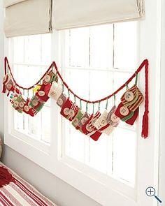 advent calendar #crochet #christmas #crafts #diy