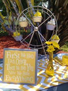 "Yellow ""Dandelion Wishes"" baby shower ideas! Cute pictures and decorating ideas for a bright and cheerful baby shower. #babyshower www.cutestbabyshowers.com"
