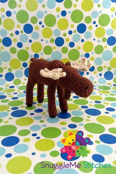 """Dudley the Moose  - Free Amigurumi Pattern - PDF File - Click """"download"""" or """"free Ravelry download"""" here: http://www.ravelry.com/patterns/library/dudley-the-moose"""