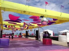 Beach Party Set Up during Miami Beach's WPF '12.