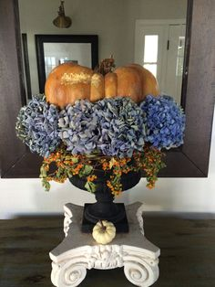 Fall Decor   Great Dining Table Centerpiece