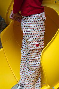 Pantalones tipo cargo. Tutorial.