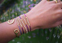 DIY sliding knot rhinestone bracelet...