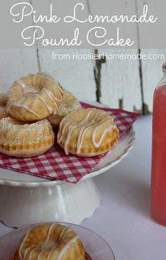 Pink Lemonade Pound Cake :: Recipe on HoosierHomemade.com
