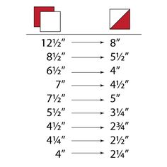 Half Square Triangle Measurements