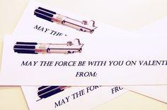 Star Wars Valentine with a glow stick