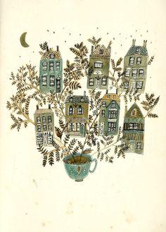 'Coffee makes the world go round' - Katt Frank Illustration
