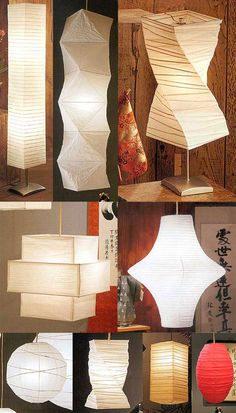 Shoji lanterns for japanese bedroom