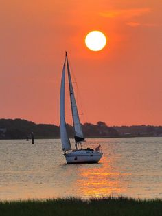 Sailboat during sunset