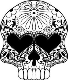 Sugar Skull Design Template | sugar skull drawings - group picture, image by tag - keywordpictures ...