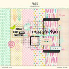 Quality DigiScrap Freebies: Free mini kit freebie from Miu Creation