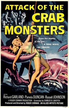 1957-Attack of the Crab Monsters, sci-fi, movie poster