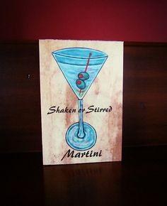 Martini Happy Hour Canvas , $11.99