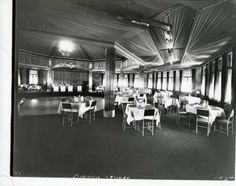 The stage and dance floor at Riley's Lake House in 1934. (Courtesy of Saratoga Springs Historical Museum, George S. Bolster collection)