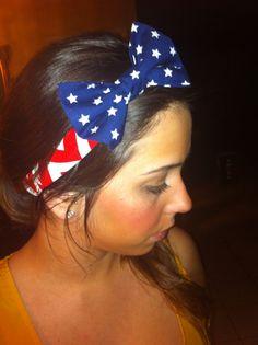 Chevron American Flag headband