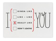 Paperless Post I Really Like You ecard | Cool Mom Tech