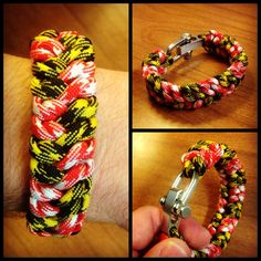 Maryland Flag Paracord Bracelet. Check out Project550 on Facebook! Facebook.com/project550paracord