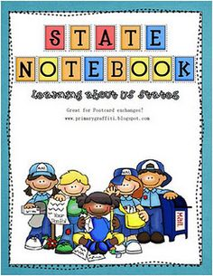 50 States book (free) and resource binder--Go on a webquest for information.  The links are provided in the file.  Students look for the state, flag, seal, quarter, motto, nickname, capital, bird, flower, rank, year the state entered the union, famous people from the state, and additional fun facts.  After our quest, the kids complete a notebook page for their resource binder.  The 111 page file is free!