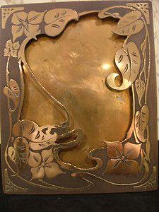 Art Nouveau brass photo/picture frame.