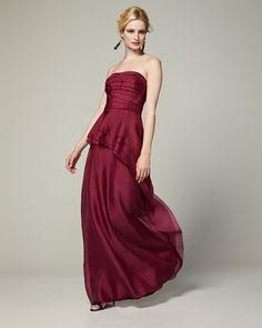 Pretty peplum bridesmaid dress -- perfect for fall!
