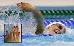 The Fabulous Nails Of Women's Olympic Swimming. Canada's Barbara Jardin