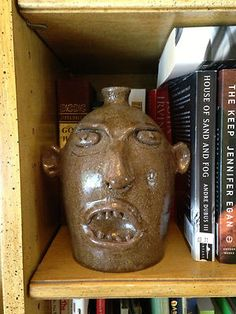 Marvin Bailey Folk Art Face Jug South Carolina Pottery